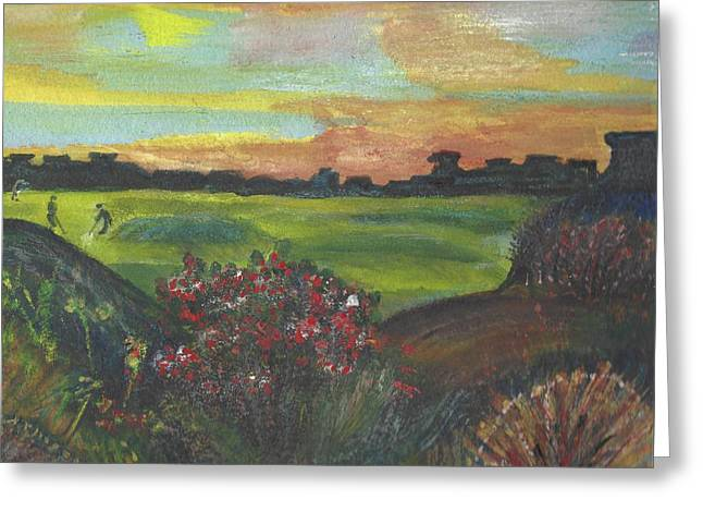 A Day For Golfing At Cypress Creek Greeting Card