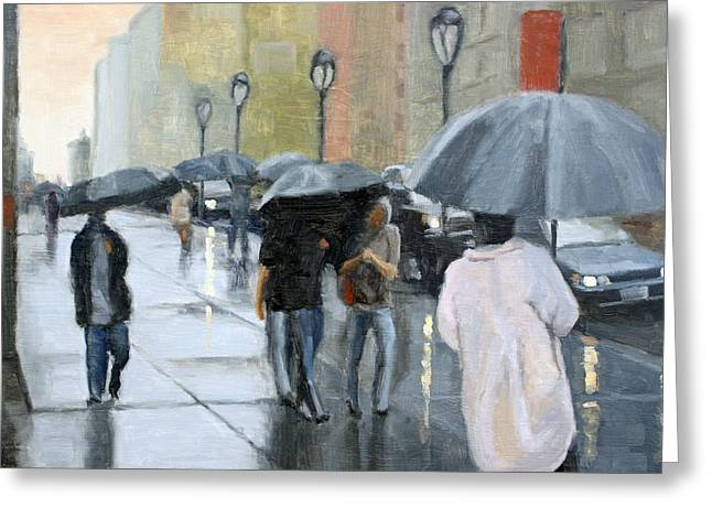 A Day For Umbrellas Greeting Card
