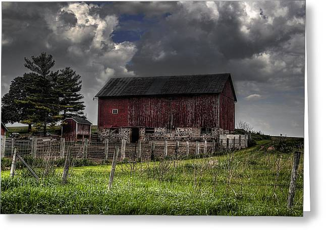 A Day In A Life Of A Farm Greeting Card by Deborah Klubertanz