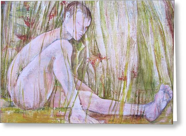 A Day In The Grass Greeting Card by Georgia Annwell