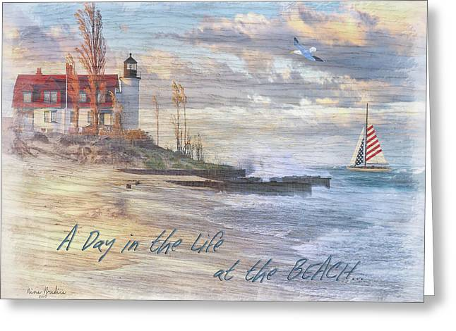 A Day In The Life At The Beach Greeting Card