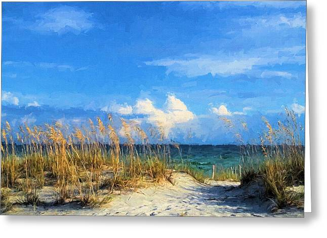 A Day In The Life In South Walton Greeting Card by JC Findley