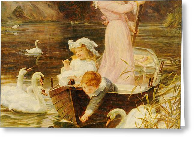 A Day On The River  Greeting Card by Frederick Morgan