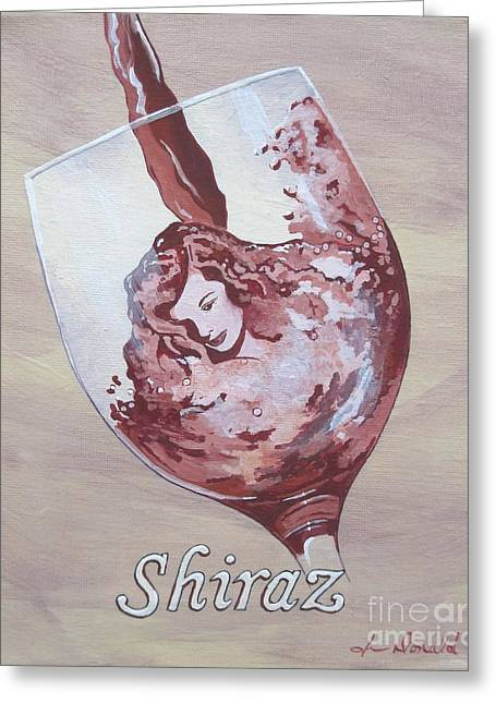 A Day Without Wine - Shiraz Greeting Card by Jennifer  Donald