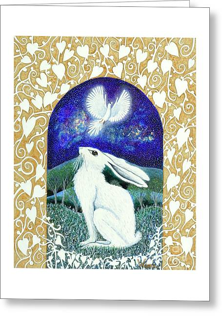 Greeting Card featuring the painting A Deep Thought by Lise Winne