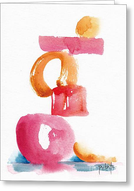 A Delicate Balance Abstract #5 Greeting Card by Pat Katz