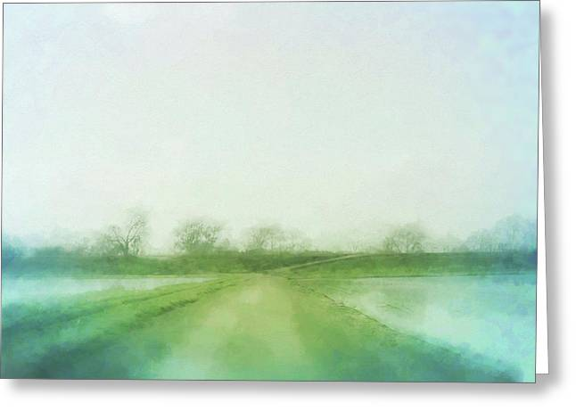 A Delta Road Greeting Card by Terry Davis