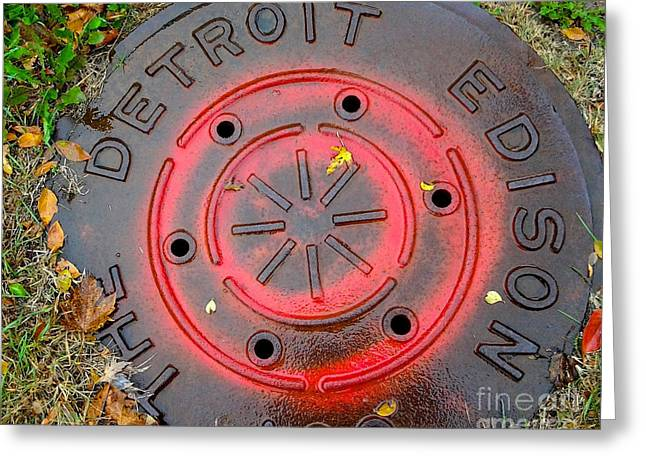A Detroit Thing Greeting Card by Sandra Church
