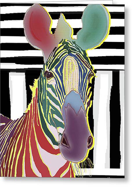 A Different Zebra Greeting Card