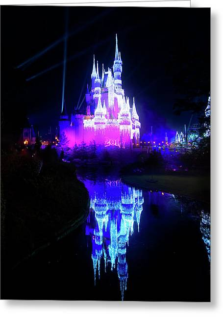 Greeting Card featuring the photograph A Disney New Year by Mark Andrew Thomas