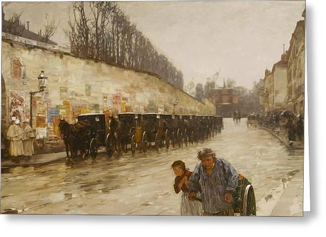 A Downpour - Rue Bonaparte Greeting Card