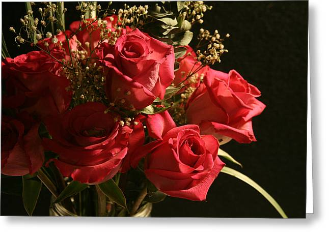 A Dozen Red Roses Greeting Card by Shirley Sykes Bracken