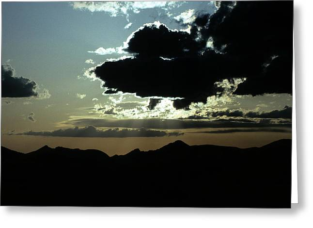 Kenai Greeting Cards - A Dramatic Sky Over Mountains In Alaska Greeting Card by Stacy Gold