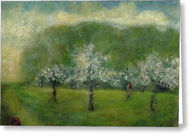 A Dream Of Apple Blossom Time Greeting Card