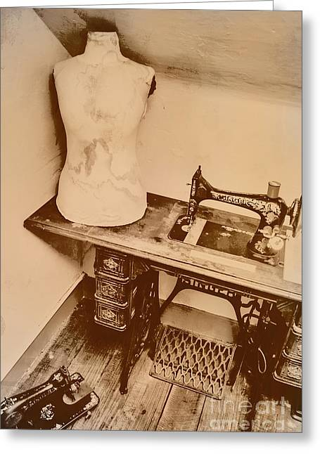 A Dressmakers Corner Greeting Card