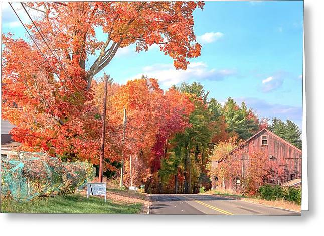 A Drive In The Country Greeting Card