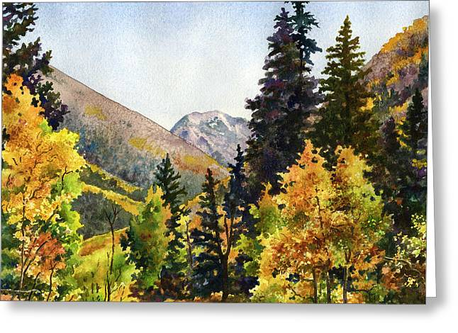 A Drive In The Mountains Greeting Card by Anne Gifford