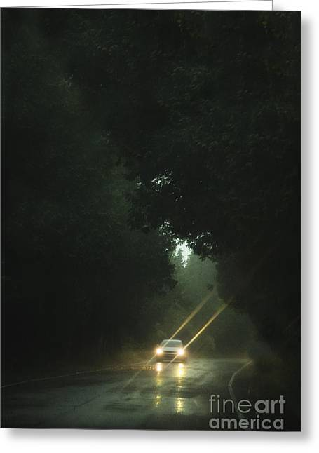 A Drive In The Rain Greeting Card
