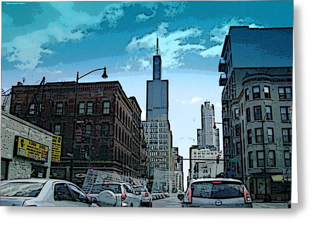 Greeting Card featuring the photograph A Drive Through Downtown Chicago by Skyler Tipton