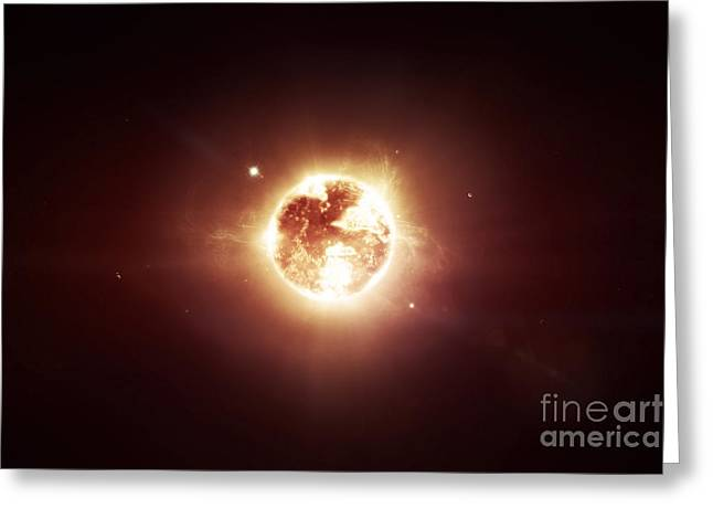 A Dying Star Which Will Soon Give New Greeting Card by Tomasz Dabrowski