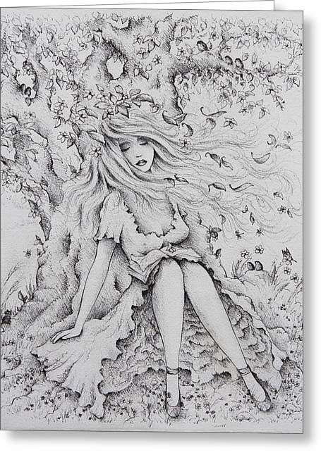 A Fairy Tale Dream Greeting Card by Rachel Christine Nowicki