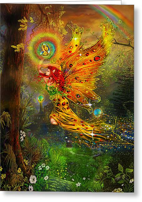 Book Cover Illustrator Greeting Cards - A Fairy Tale Greeting Card by Steve Roberts