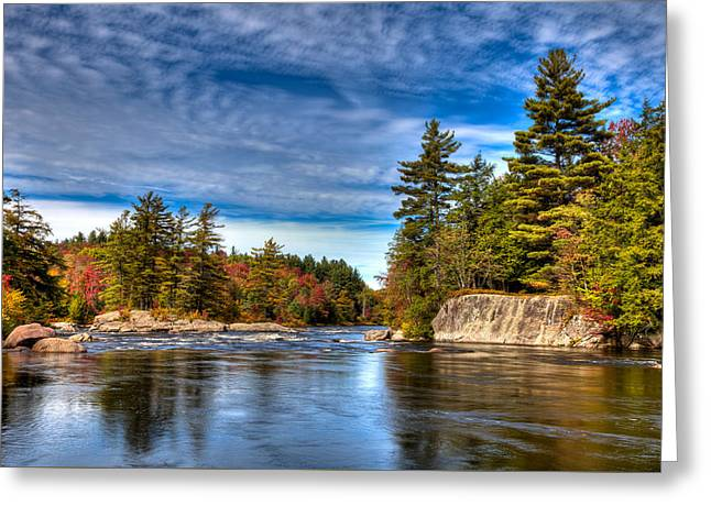 A Fall Afternoon On The Moose River Greeting Card