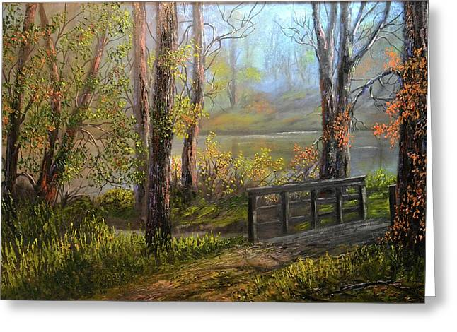 A Fall Day  Greeting Card