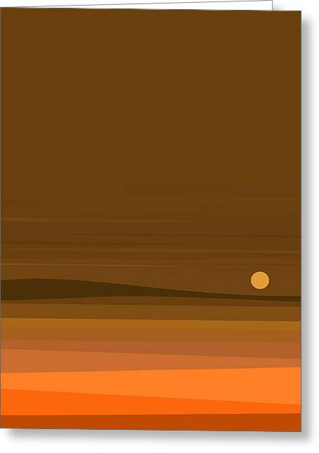 A Fall Moonrise Greeting Card by Val Arie