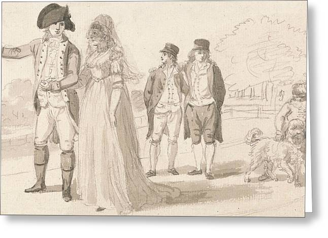 A Family In Hyde Park Greeting Card