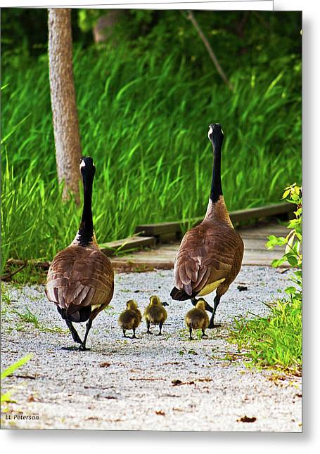 A Family Stroll Greeting Card