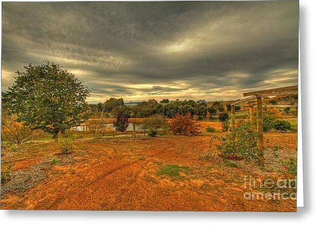 A Farm In Bridgetown, Western Australia Greeting Card
