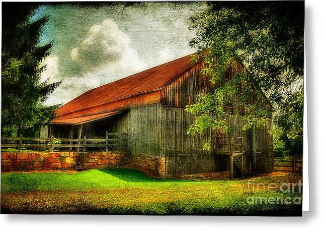 A Farm-picture Greeting Card by Lois Bryan