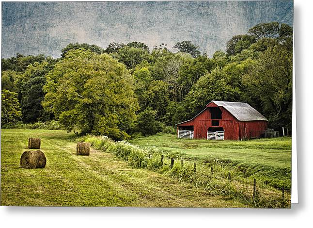 Tennessee Hay Bales Greeting Cards - A Farmers Pride Greeting Card by Elizabeth Wilson