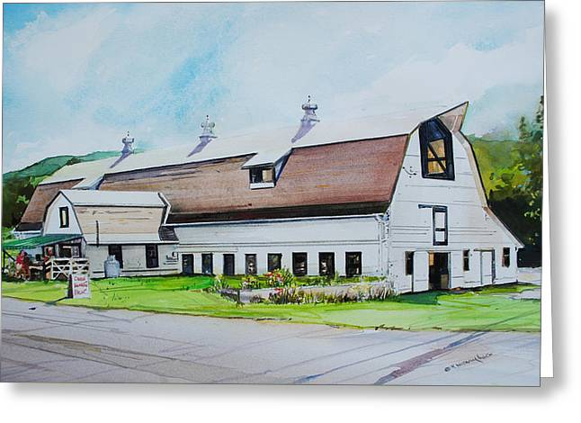 A Farmstand  In The Berkshires Greeting Card by P Anthony Visco