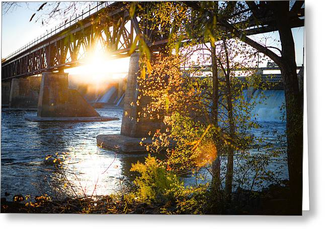 Greeting Card featuring the photograph Blanchard Dam - A Favorite Place by Alex Blondeau