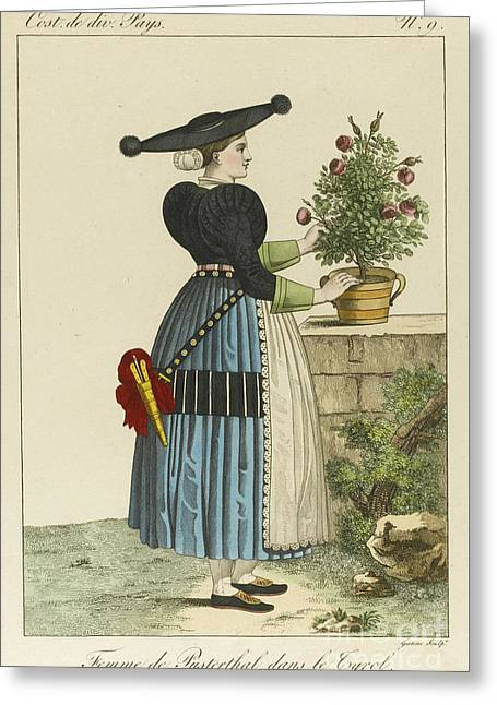 A Female, Beautiful Lady Greeting Card by MotionAge Designs