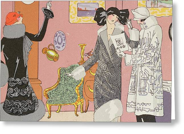 A Few Pretty Novelties Greeting Card by Art Gout Beaute