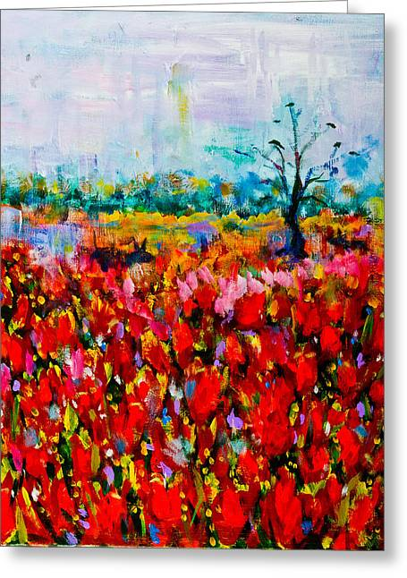 A Field Of Flowers # 2 Greeting Card