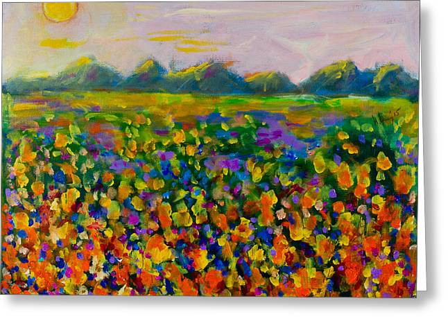 A Field Of Flowers #1 Greeting Card