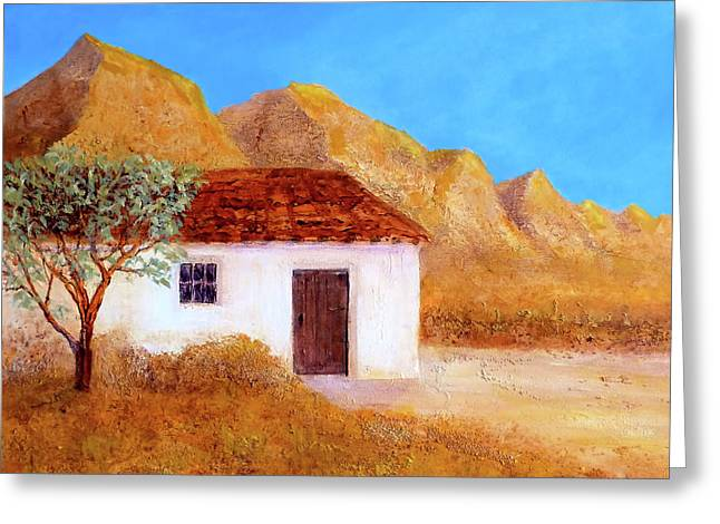 Greeting Card featuring the painting A Finca In Spain by Valerie Anne Kelly