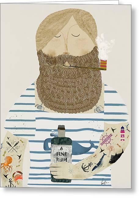 A Fine Rum Greeting Card by Bri B
