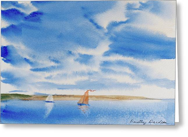 A Fine Sailing Breeze On The River Derwent Greeting Card