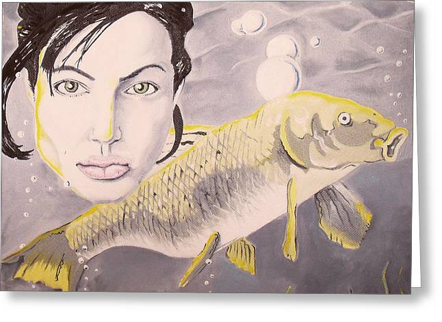 A Fish Named Angelina Greeting Card by Joseph Palotas
