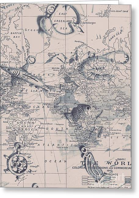 A Fishermans Map Greeting Card