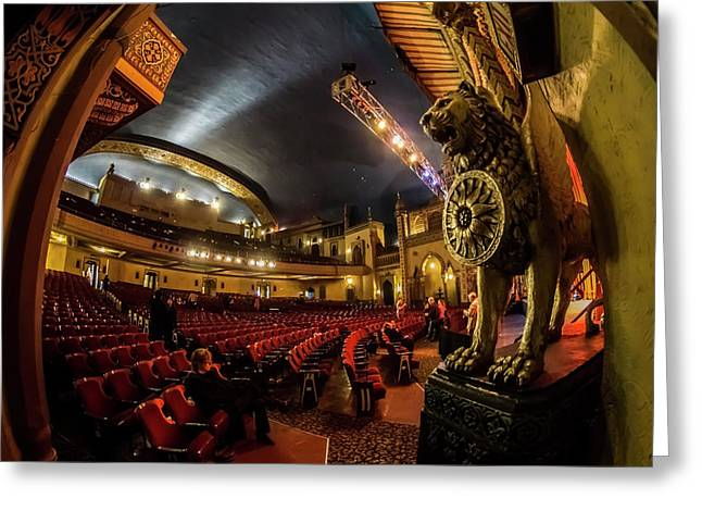A Fisheye View Inside Chicago's Regal Theatre Greeting Card