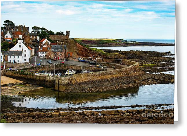 A Fishing Village Named Crail In East Nuek Of Fife Scotland Greeting Card by MaryJane Armstrong