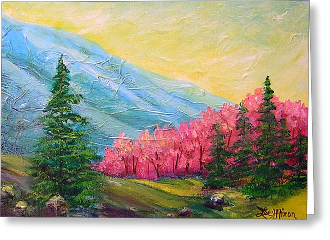 A Florid View Of The Blue Ridge Greeting Card by Lee Nixon