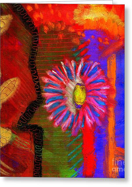 Greeting Card featuring the painting A Flower For You by Angela L Walker