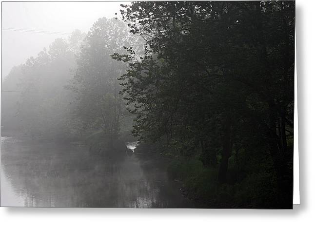 A Foggy Morning In Pennsylvania Greeting Card